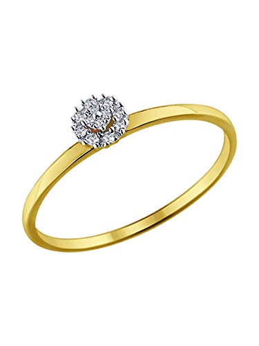 585 (14k) Yellow Gold Engagement Ring with 0.037 ct Diamonds