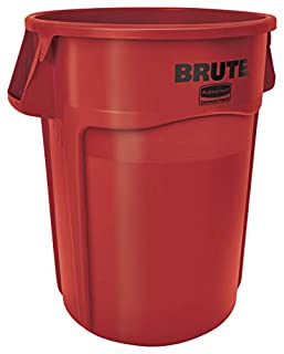 Rubbermaid Commercial Products FG265500RED  BRUTE Heavy-Duty Round Trash/Garbage Can, 55-Gallon, Red (B005KDB52O) | Amazon price tracker / tracking, Amazon price history charts, Amazon price watches, Amazon price drop alerts