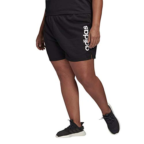 adidas womens Essentials Shorts Black/White 4X