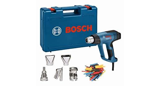 Bosch Professional Heißluftpistole GHG 23-66 (2.300 Watt, Temperaturbereich 50-650 °C, inkl. Display, 5 Düsen, im Werkzeugkoffer)