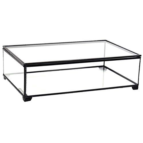 J Devlin Box 748 Large Clear Glass Box Holiday Home Decor Display or Wedding Keepsake Card Holder Box
