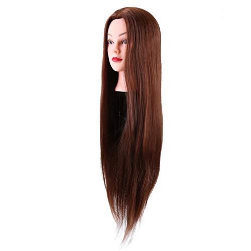Cabezas de entrenamiento de maniquí Cabeza de entrenamiento de peinado de cabello Maniquí de cosmetología Cabeza de muñeca con soporte Cabeza de peluca Accesorios para el cabello de bricolaje, Cabeza