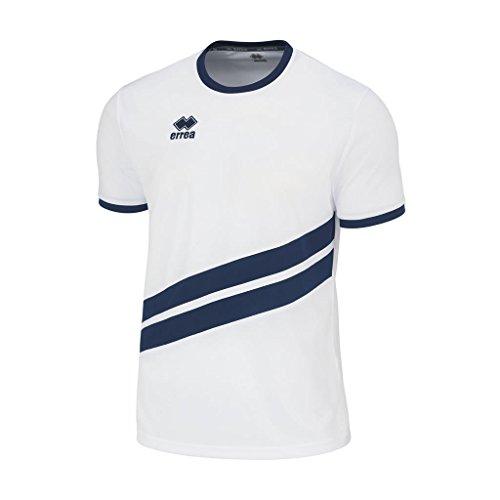 Errea Jaro MC Jr T-Shirt de Sport Unisexe pour Enfant XS Blanc/Bleu