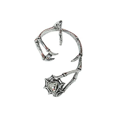 S-TROUBLE Black Demon Claw Ear Wrap Pendiente de Bronce Punk Garras Forma de joyería para Mujeres Hombres Niñas para decoración de Joyas