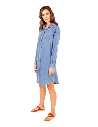 Anna Mora Vestido Camisero Azul para Mujer 44 Azul