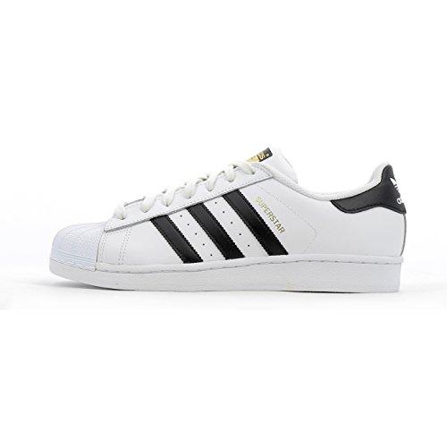 adidas Originals Men's Superstar Casual Sneaker, White/Core Black/White, 8.5 M US