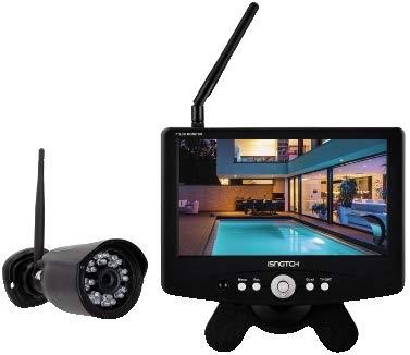 KIT VIDEOSORVEGLIANZA WIRELESS 4 CANALI HD 720P - ISNATCH 67400090