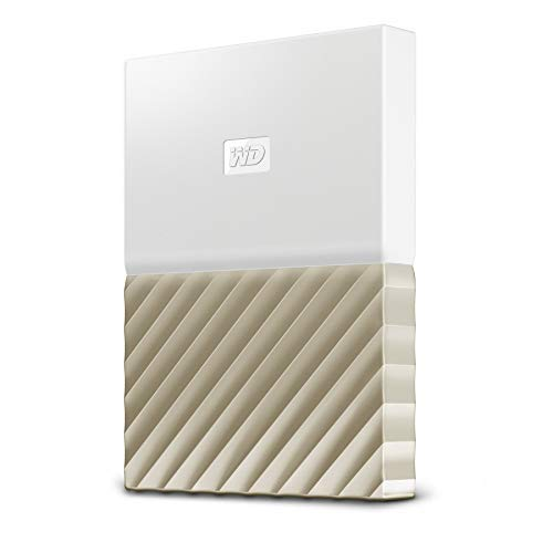 Western Digital My Passport Ultra Disco duro externo  de 1 TB - Blanco / Oro