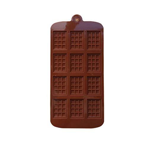 Silikonform 12 Sogar Schokoladenform Fondantformen Diy Schokoriegelform Kuchen Dekoration Werkzeuge Küche Backzubehör Großhandel, Braun, China