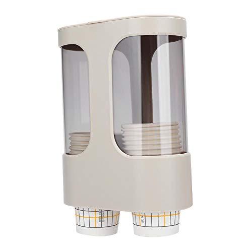 Fditt Portavasos de plástico Soporte de Pared Dispensador de Vasos de Papel para dispensador de Agua Organizador de Vasos Desechables Estante Restaurante Hotel Oficina Uso del baño