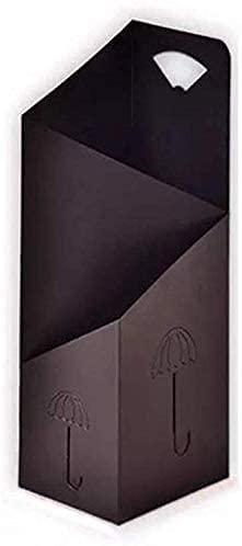 WYRKYP Paragüero Paragüero de Hierro Pasillo de Oficina Paragüero Negro (60 * 25 * 20Cm) Decoración