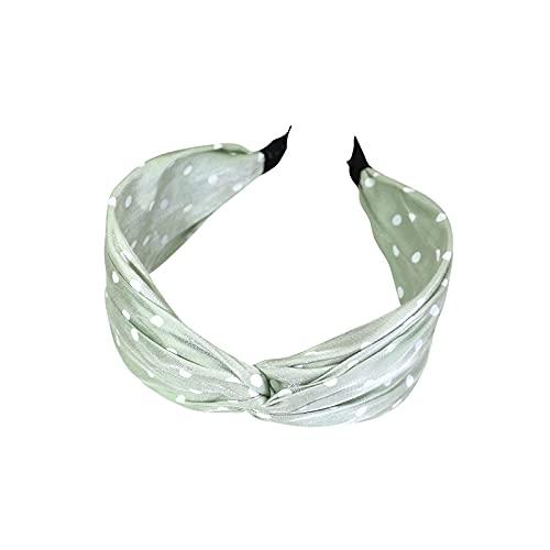 Diadema verde menta con diseño de lunares lindos y simples accesorios para el cabello