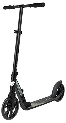 CITYGLIDE C200 Kick Scooter for Adults, Teens - Foldable, Lightweight, Adujustable - Carries Heavy Adults 220LB Max Load (Black)