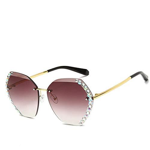 Gafas de Sol Sunglasses Nuevas Gafas De Sol Cuadradas Sin Montura De Gran Tamaño para Mujer,Lentes Transparentes con Gradiente DeModa De Lujo, Gafas DeUna Pieza ParaAnti-UV