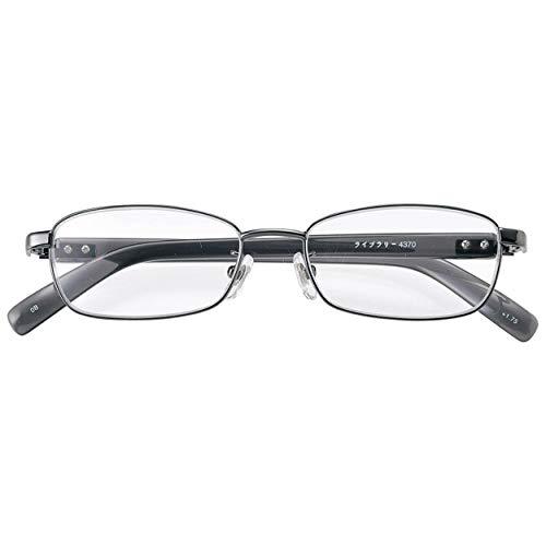 メイガン 老眼鏡 中間度数 強度数あり 男性 メンズ 掛け心地良い プラ テンプル 疲れにくい 非球面レンズ採用 ブラック 度数 5.00 4370-50