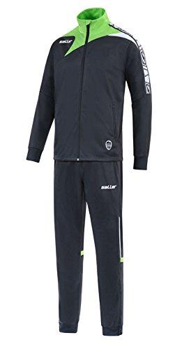 Saller Glanz-Trainingsanzug »sallerReactiv« anthrazit-apfelgrün Gr. M