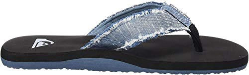 Quiksilver Monkey Abyss, Zapatos de Playa y Piscina Hombre, Azul (Blue/Black/Blue Xbkb), 43 EU