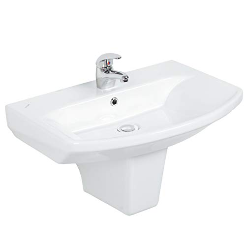 Design Keramik Waschbecken Waschtisch Wandhängend Aufsatzwaschbecken Wandmontage modern 60cm SR060