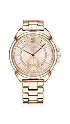 Quartz Watch with Stainless-Steel Rose Gold Strap 1781989