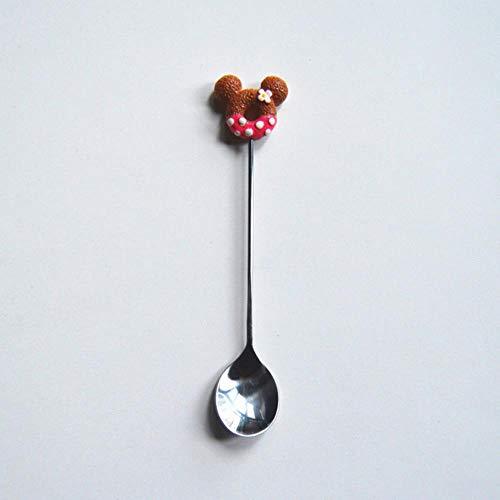 Miner snoep kleine mini roestvrijstalen donut koffielepel fruit roerlepel theelepel dessert theelepel servies, roze