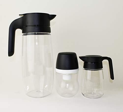 TUPPERWARE TupperTime 1,7L Kanne Saftkanne, Milchkanne + 300ml Zuckerhut klein + 350ml Milchkännchen + Mini Trichter Lila