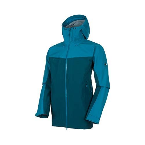 Mammut Herren Crater Hooded Hardshell-Jacke mit Kapuze, Wing Teal-Sapphire, XL