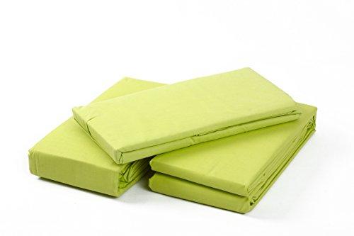 Towel Home - Juego de Cama 3pcs Verde Lima, Polycotton (90x190/200+30cm)