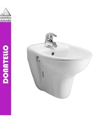 Ceramica Dolomite - Bidet sospeso, Dolomite Serie Donatello, J509101 - Bianco, Monoforo, A Magazzino