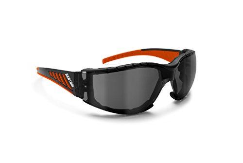 occhiali per moto Bertoni Occhiali da Moto Antivento Avvolgenti con Lente Infrangibile Antiappannante - Spugna Antivento Removibile - AF149HD1