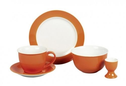 Flirt By R&B Geschirr-Serie Doppio orange Material Jumbotassen-Set 12 tlg. Doppio orange