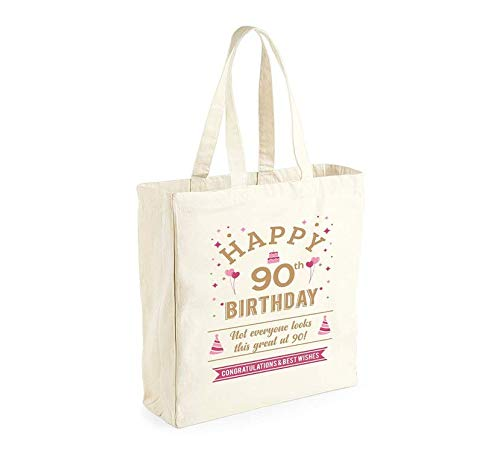 90th Birthday Keepsake Gift Bag/Shopping Tote