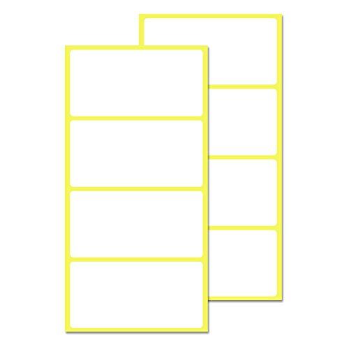 200 Stück, 100 x 50 mm, Aufkleber Etiketten Selbstklebend Klebeetiketten zum Beschriften - Weiß