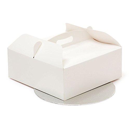 0340106 DECORA - SCATOLA TORTA 26 X 26 X 10 H CM CON CAKE BOARD Ø CM 25 X H 3M