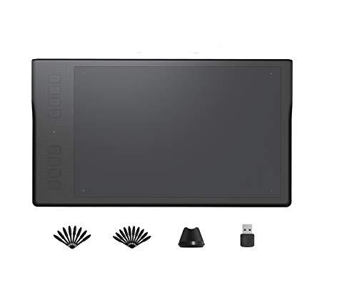 Tableta Gráfica HUION Inspiroy Q11K, Tableta de Dibujo Inalámbrica con Sensibilidad a la Presión del Lápiz 8192, 8 Teclas de Acceso Directo Personalizadas, Receptor Inalámbrico de 2.4GHz