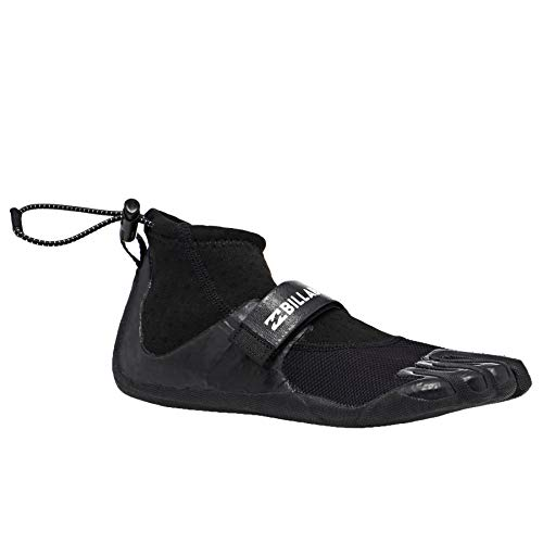 Billabong Pro Reef 2mm Neoprene Wetsuit Shoes - Black - Vulcanised Sole - Arch Strap. Flatlock Seams for Drainage