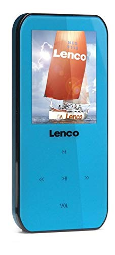 Lenco Xemio-655 MP4/MP3/WMA-speler 4 GB (4,6 cm (1,8 inch) TFT-display, SD, opnamefunctie, USB, software en CD) blauw
