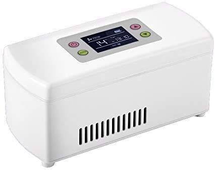 Smart Refrigeration insuline koelbox draagbare oplaadbare insuline koeler Mini koelkast Portable (20,4 * 9,4 * 9,1 cm)
