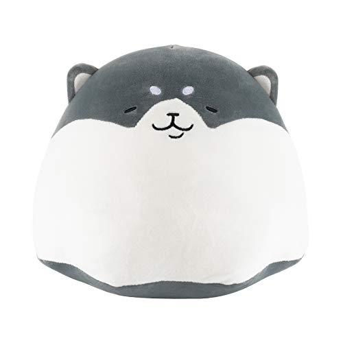 Redbey L/X 11.8-inch Stuffed Animal Shiba Inu Plush Toy Pillow. Anime Corgi Puppy Akitas Cute Plush Soft Pillow Hugging Pudding Doll Dog. Best Toy Gift for Girl Boy. (Gray-11.8inch)