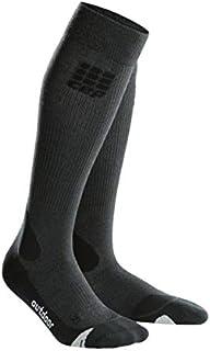 CEP Men's Long Compression Wool Socks Outdoor Merino Socks for Hiking