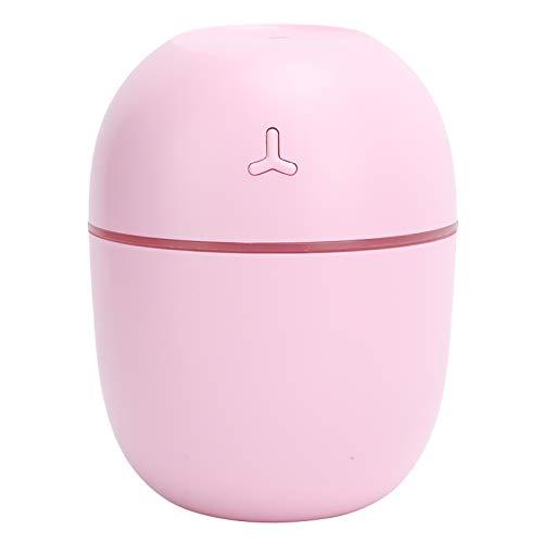 Humidificador portátil, 300 ml de bajo Ruido de Funcionamiento Humidificador portátil Difusor de Aceite aromático, USB LED Mini Coche Suministros para el hogar para la Familia o Viajes