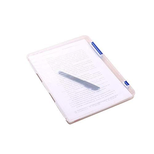 rongweiwang A4 del Archivo de Almacenamiento del buzón de Documentos de plástico Transparente Caja de Almacenamiento de Archivos Casos de Escritorio A5 Papel organizadores