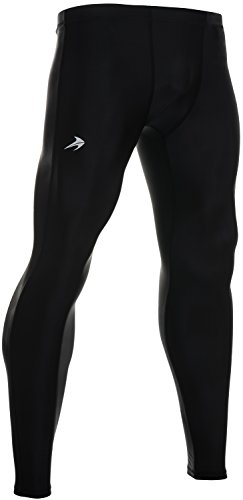 CompressionZ Men's Compression Pants Base Layer Running Tights Gym Leggings (Black, XL)