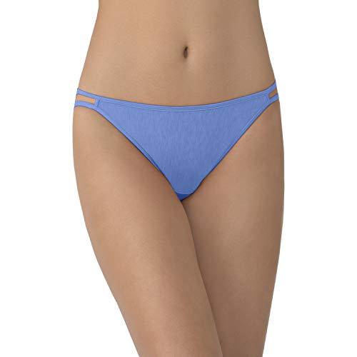 Vanity Fair Women's Illumination String Bikini Panties (Regular & Plus Size), Mockingbird, 5