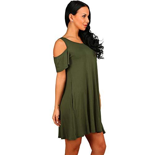Vestidos De Fiesta Vestir Dress Mujer Niña Vestido De Mujer Vestidos De Playa Sólidos Mujer Fuera del Hombro Vestido Largo De Playa Sexy Vestido Informal-Green_XL