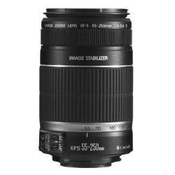 Canon - Objetivo EF-S 55-250 Mm F/4,0-5,6 IS (Rosca Para Filtro De 58 Mm, Estabilizador De La Imagen, Empaquetado Original)
