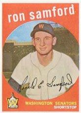 1959 Topps Regular (Baseball) Card# 242 Ron Samford of the Washington Senators Ex Condition