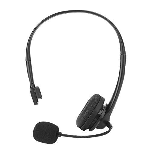 USB-headset med mikrofon, 3,5 mm dator telefon headset kundtjänst hörlurar med ett öra jobb headset för kontor PC