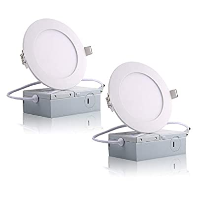 "2Packs 6W 4"" Ultra-Thin LED Recessed Ceilin..."