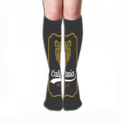 GHEDPO Hohe Socken Novelty Cotton Knee High Fun Socks for Men's Women 19.7