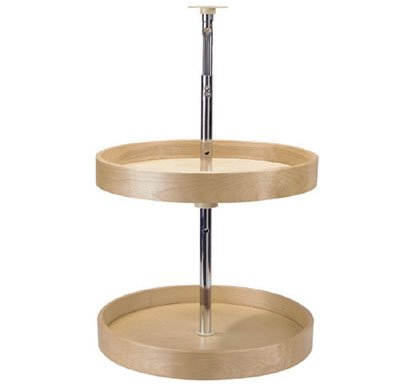 """PMI Premium Wood Susans Full Round 2 Shelf 32"""" (Set)"""